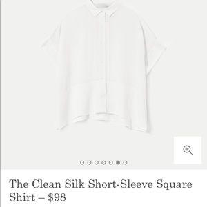 Everlane silk blouse